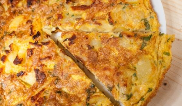Фритата с картофи и чушки