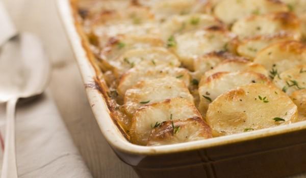 Печени картофи с праз лук