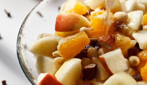 Зимна плодова салата с помело