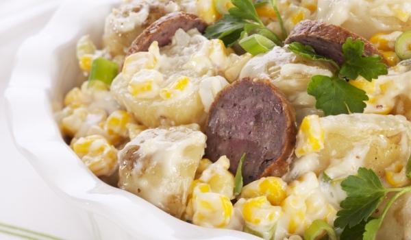 Картофена салата с наденички