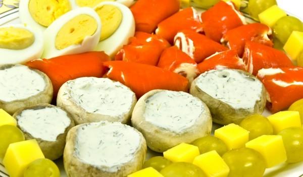 Печени пиперки с пюре от патладжани
