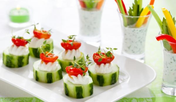 Коктейлни хапки с краставица