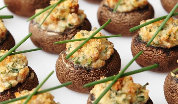 Пълнени печурки с пюре