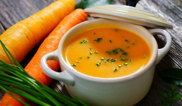 Крем супа с моркови и шампанско