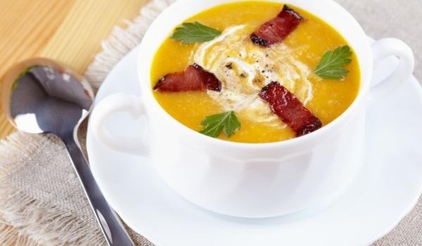 Тиквена крем супа с бекон