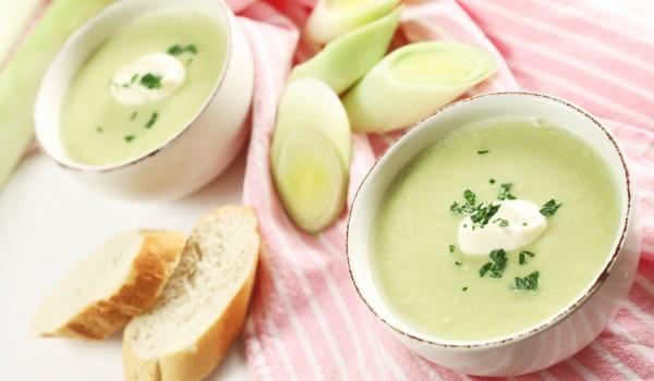 Крем супа с праз лук