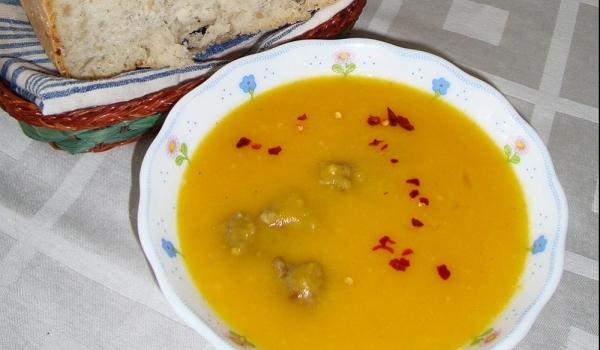 Супа топчета с тиква и манго