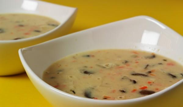 Крем супа от картофи и гъби