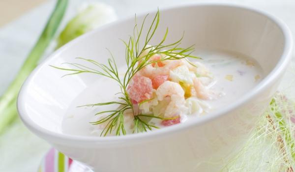 Италианска студена супа със скариди