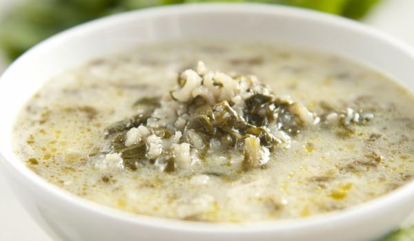 Студена супа с ориз и спанак