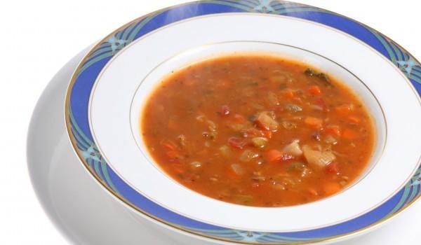 Крем супа от зрял фасул и чушки
