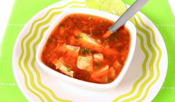 Руска рибена супа с домати