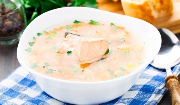 Сметанова супа със сьомга