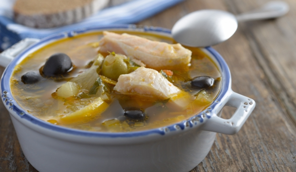 Рибена супа с маслини