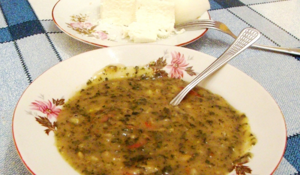 Чорба от коприва с ориз