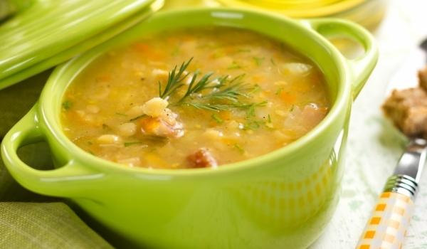 Телешка супа с гъби и зеленчуци