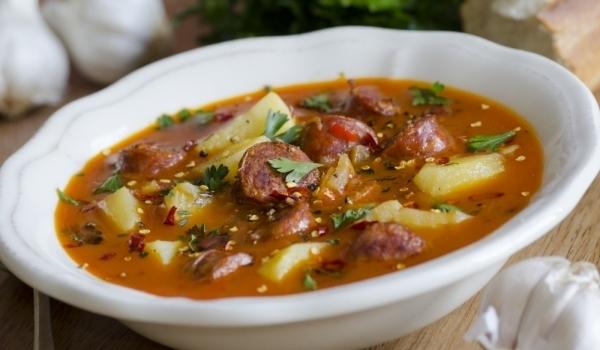 Супа от картофи и саздърма