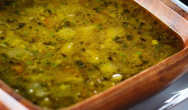 Бърза супа с тиквички