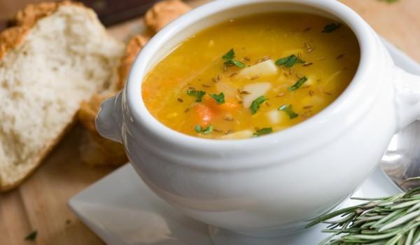 Супа със сьомга и скариди