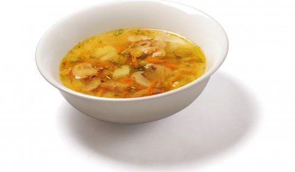 Пъстра супа от пресни гъби