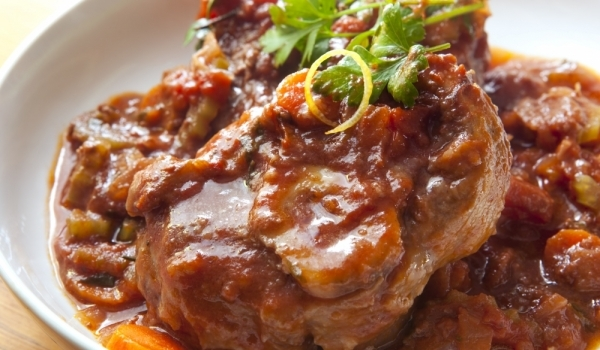 Свински пържоли с зеленчуци на фурна