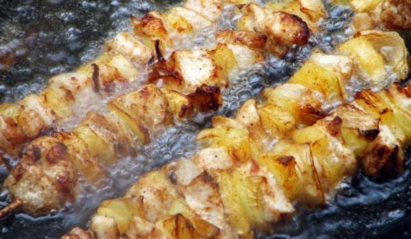 Шишчета със свинско и ананас