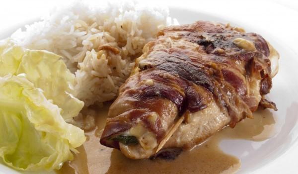 Свинска рибица с плънка