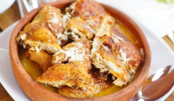 Кмерули – пиле с чесън по грузински