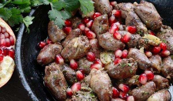 Грузинско кучмачи от пилешки сърчица