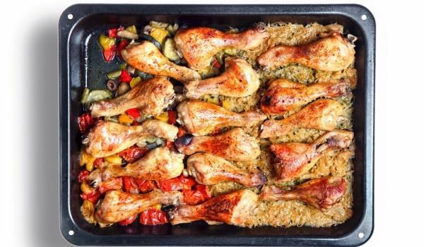 Бързо и вкусно пиле с ориз