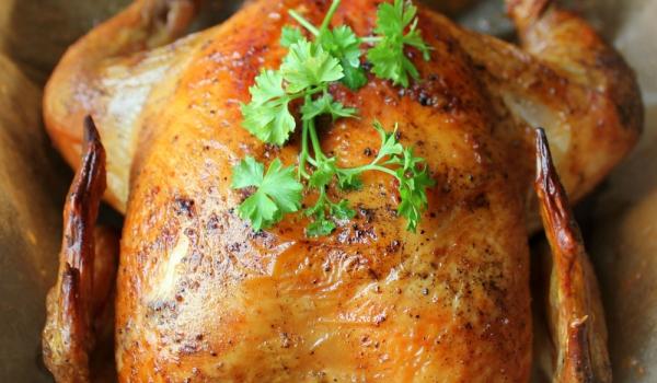 Печено пиле с плънка от кашкавал