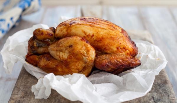Печено пиле в хартия