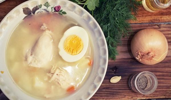 Супа от кокошка и телешко