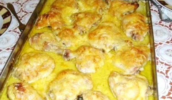 Пилешки бутчета с горчица
