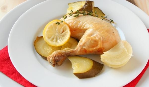 Пиле във фолио