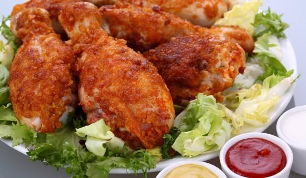 Хрупкави пилешки крилца