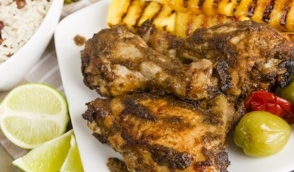 Пиле с мед и ананас