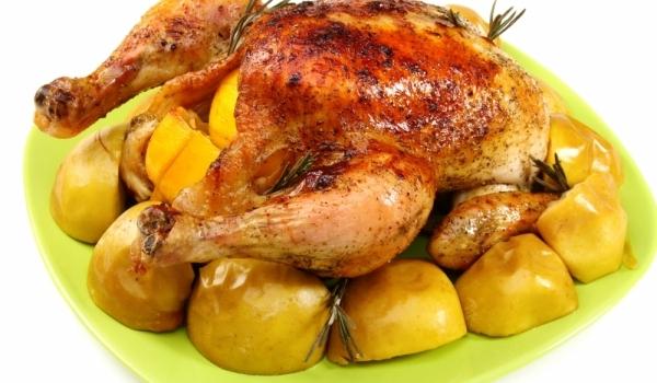 Медено пиле с розмарин