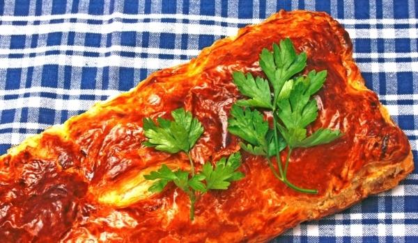 Пиле Уелингтън с боровинки