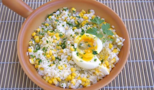 Ризото с царевица и пиле
