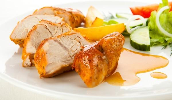 Пилешко филе с мед и горчица