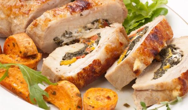Пилешко руло със спанак и сирене