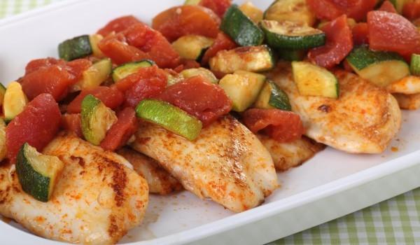 Пиле със зеленчуци по китайски