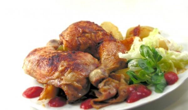 Пилешки бутчета с плънка