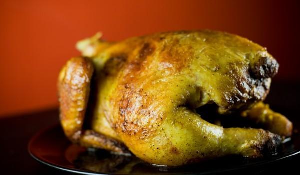 Пиле с гъби и топено сирене