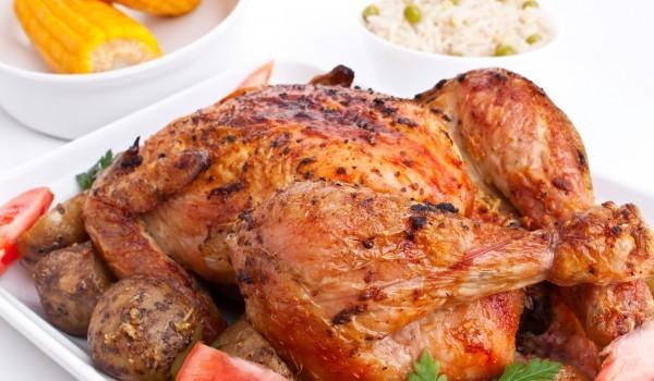 Печено пиле с бекон и рикота
