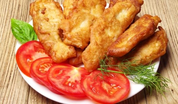 Рибни пръчици в тесто