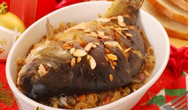 Шаран с кисело зеле и ориз на фурна