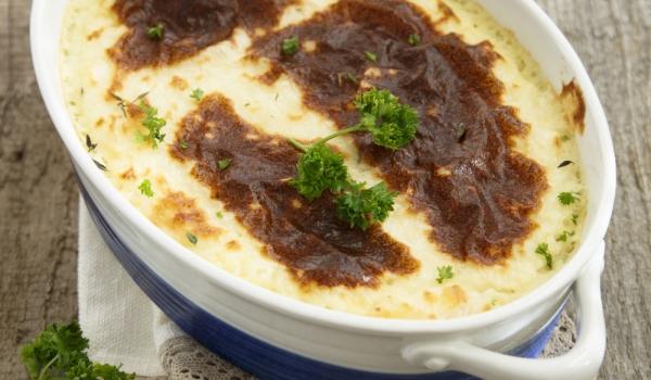 Суфле с картофи и шунка