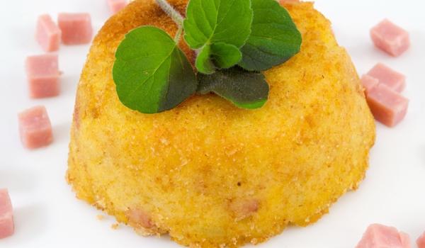 Картофено суфле с шунка
